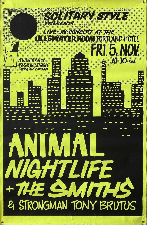 Lot 529 - THE SMITHS RARE MANCHESTER CONCERT POSTER - NOVEMBER 1982.