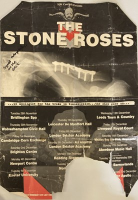 Lot 200 - IAN BROWN STAGE WORN SNOOD AND SIGNED POSTER.