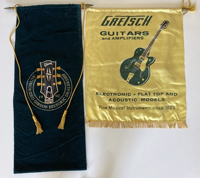 Lot 11 - GUITAR MEMORABILIA - GRETSCH PROMO BANNERS ETC.