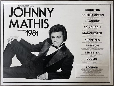 Lot 296 - JOHNNY MATHIS / GENE PITNEY AND MORE POSTERS.