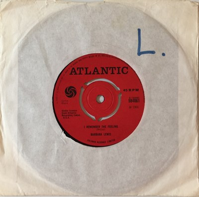 """Lot 5 - BARBARA LEWIS - I REMEMBER THE FEELING C/W BABY WHAT DO YOU WANT ME TO DO 7"""" (UK ORIGINAL - ATLANTIC 584061)"""