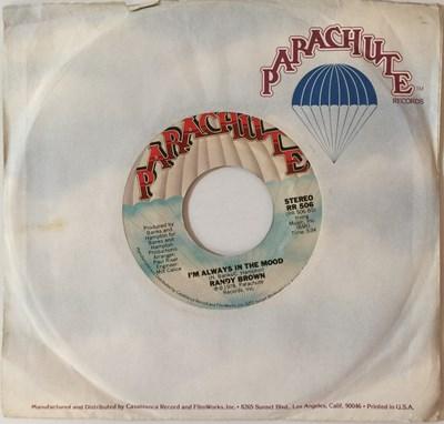 """Lot 11 - RANDY BROWN - I'M ALWAYS IN THE MOOD C/W I'D RATHER HURT MYSELF (THAN TO HURT YOU) 7"""" (ORIGINAL US COPY - PARACHUTE RR 506)"""