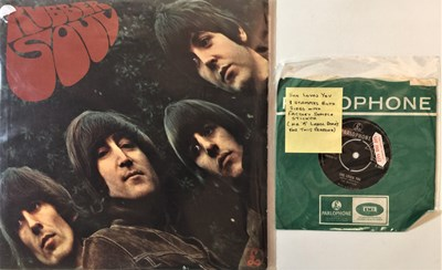 Lot 42 - THE BEATLES - RUBBER SOUL/SHE LOVES YOU (ORIGINAL FACTORY SAMPLE STICKERED COPIES)