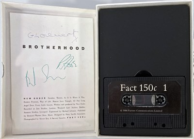Lot 8 - NEW ORDER FACTORY CASSETTE BOXSET WITH AUTOGRAPHED CARD.