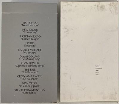 Lot 9 - FACTORY RECORDS - VHS CASSETTES.