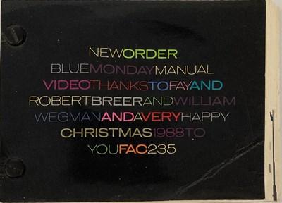 Lot 12 - NEW ORDER BLUE MONDAY 1988 CHRISTMAS FLIPBOOK.
