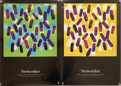 Lot 21 - NEW ORDER FINE TIME PROMO POSTERS.