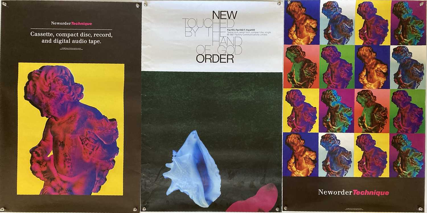 Lot 22 - NEW ORDER PROMOTIONAL POSTERS.