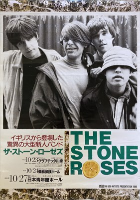 Lot 201 - STONE ROSES 1989 JAPANESE TOUR POSTER.