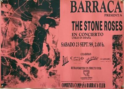 Lot 202 - STONE ROSES 1989 SPANISH CONCERT POSTER.