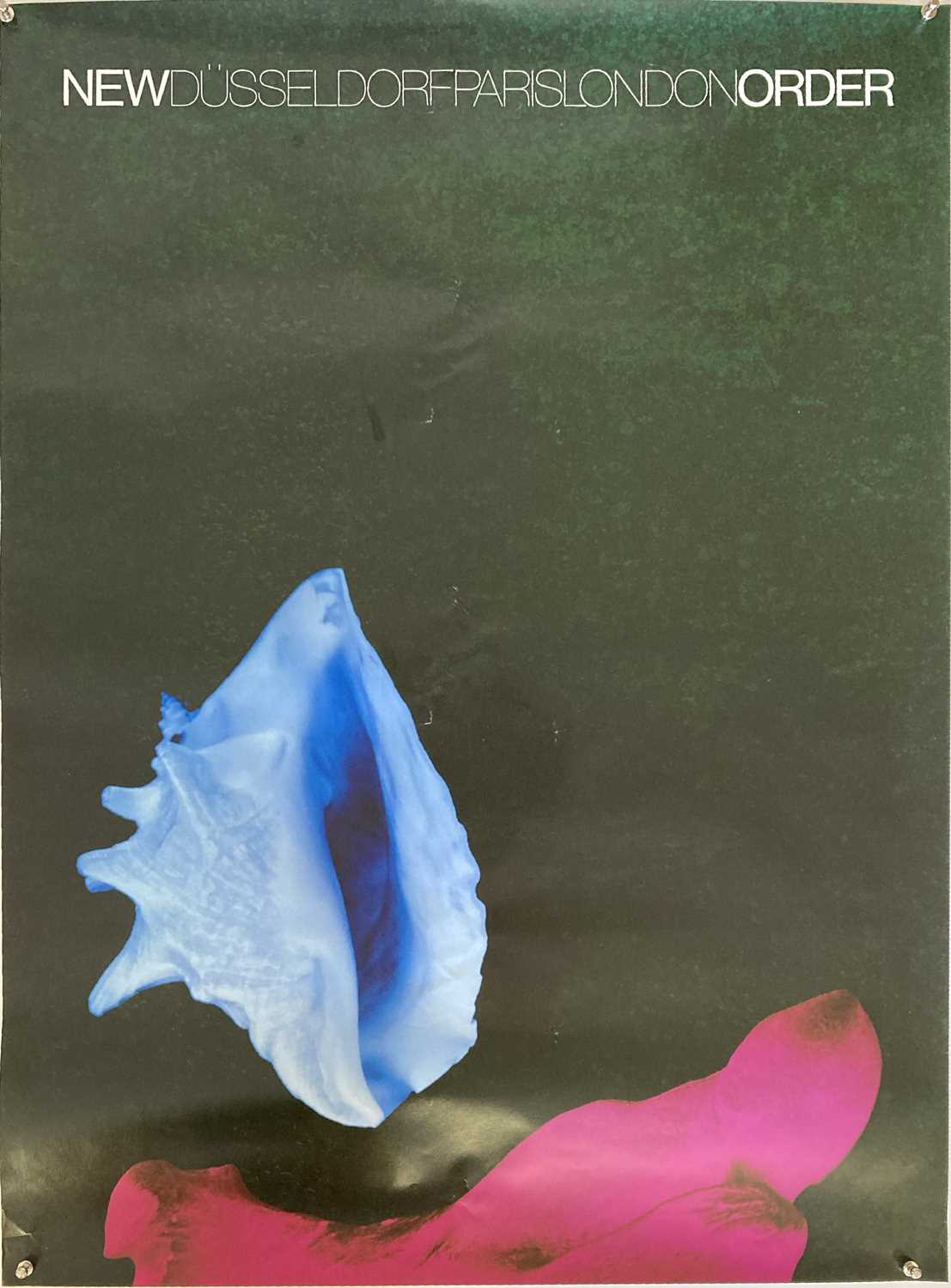 Lot 28 - NEW ORDER 1987 TOUR POSTER.