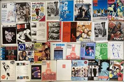 Lot 34 - MANCHESTER MUSIC ZINES  / MAGAZINES.
