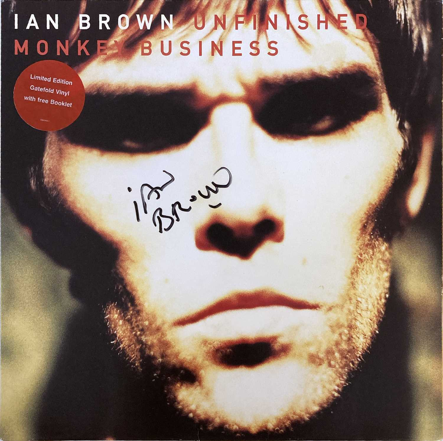 Lot 205 - STONE ROSES / IAN BROWN - UNFINISHED MONKEY BUSINESS SIGNED.
