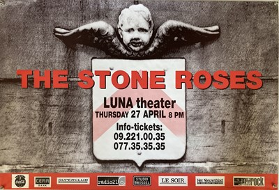 Lot 209 - STONE ROSES - LUNA THEATRE BRUSSELS CONCERT POSTER.
