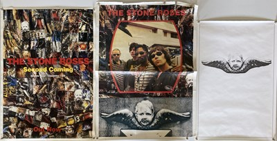 Lot 213 - STONE ROSES SECOND COMING / LOVE SPREADS POSTERS.