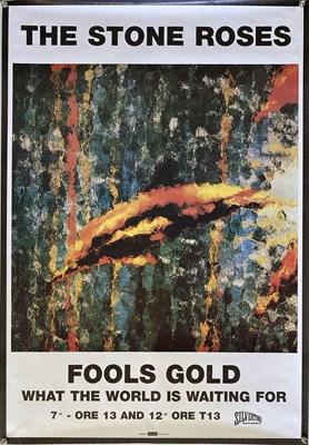 Lot 215 - STONE ROSES FOOLS GOLD ORIGINAL POSTER.