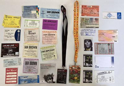 Lot 228 - IAN BROWN TICKETS AND PASSES.