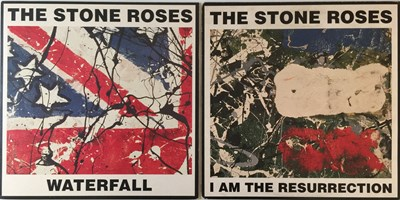 """Lot 307 - THE STONE ROSES - I AM THE RESURRECTION/WATERFALL 12"""" (COMPLETE ORIGINAL COPIES)"""