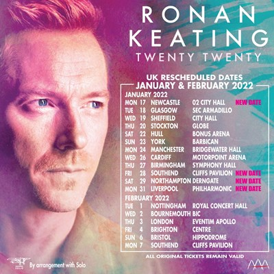 Lot 12 - RONAN KEATING – CONCERT TICKETS WITH MEET AND GREET, PLUS SIGNED ULTIMATE FAN BUNDLE AND SIGNED LITHOGRAPH