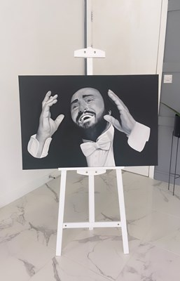 Lot 27 - EXCLUSIVE PAVAROTTI ARTWORK BY WILL MCNALLY