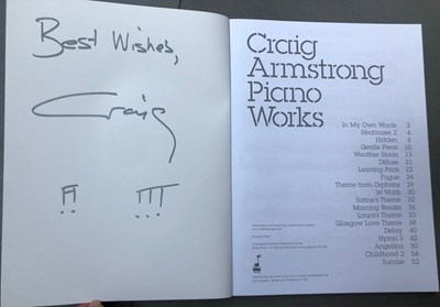 Lot 19 - CRAIG ARMSTRONG – SIGNED SCORE SHEET