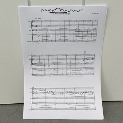 Lot 32 - MAX RICHTER – SIGNED 'ON THE NATURE OF DAYLIGHT' MANUSCRIPT