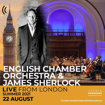 Lot 34 - VOCES8 - 2 EXCLUSIVE TICKETS TO A CLOSED RECORDING OF VOCES8 AND THE ENGLISH CHAMBER ORCHESTRA.