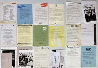 Lot 16 - LARGE COLLECTION OF PRESS AND PROMOTIONAL ITEMS - ELTON JOHN / RADIOHEAD AND MORE.