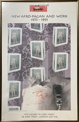 Lot 422 - DAVID BOWIE SIGNED EXHIBITION POSTER.
