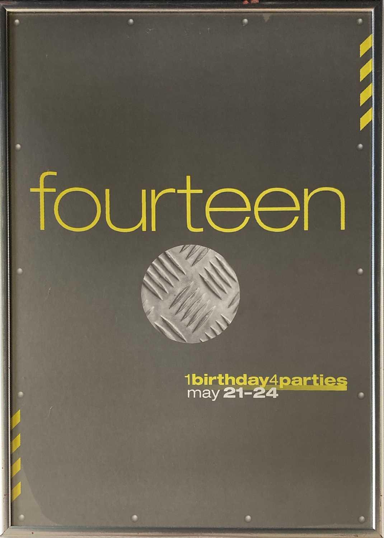 Lot 38 - FACTORY RECORDS - THE HACIENDA FOURTEENTH BIRTHDAY POSTER