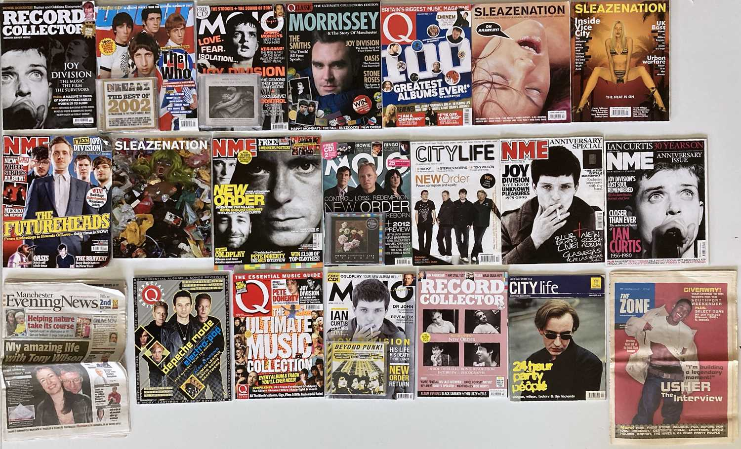 Lot 37 - FACTORY/MANCHESTER ARTISTS - MUSIC MAGS