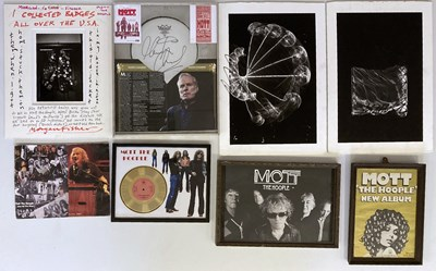Lot 24 - MOTT THE HOOPLE COLLECTION - PRESENTATION AWARDS / POSTERS AND MORE.