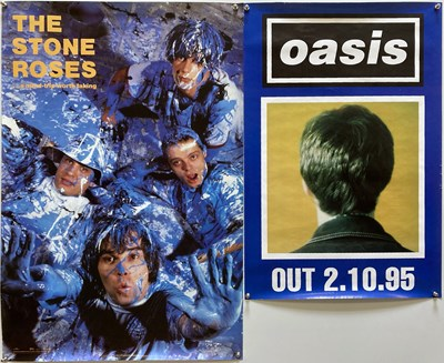 Lot 237 - STONE ROSES / OASIS POSTERS.