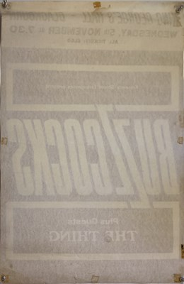 Lot 43 - BUZZCOCKS SIGNED 1980 CONCERT POSTER.