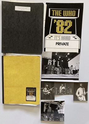Lot 27 - THE WHO - TOUR ITINERARIES AND PHOTOGRAPHS.