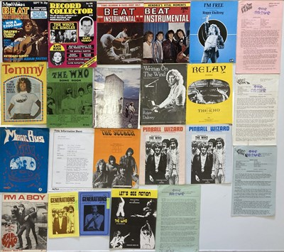 Lot 28 - THE WHO - SONGBOOKS AND SHEET MUSIC.
