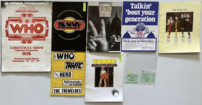 Lot 29 - THE WHO - PROGRAMMES & TICKETS.