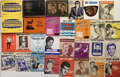 Lot 30 - SHEET MUSIC AND SONG BOOKS.