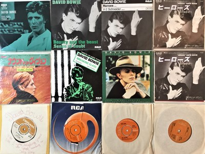 """Lot 915 - DAVID BOWIE - 7"""" COLLECTION (WITH JAPANESE/EU RARITIES)"""