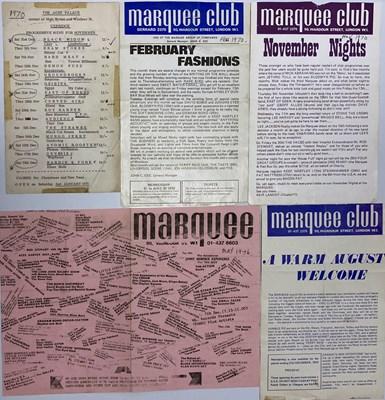 Lot 123 - MARQUEE CLUB HANDBILLS C 1970S - DAVID BOWIE / CLAPTON / YES.