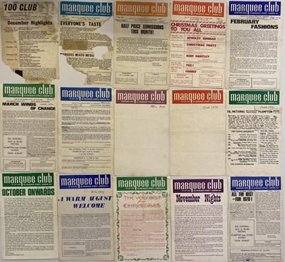 Lot 124 - MARQUEE CLUB - HANDBILL ARCHIVE 1969 - 1970.