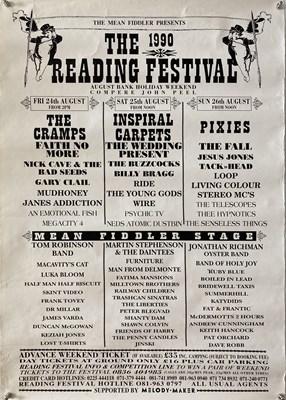 Lot 43 - NED'S ATOMIC DUSTBIN - READING FESTIVAL 1990 POSTER.