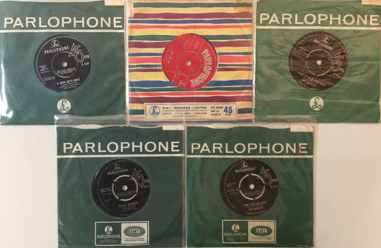 """Lot 16 - THE BEATLES - UK 7"""" COLLECTION (WITH ORIGINAL LOVE ME DO)"""