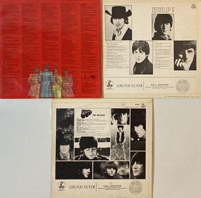 Lot 21 - THE BEATLES - RUBBER SOUL/HELP!/SGT. PEPPER'S LPs (ORIGINAL/EARLY UK MONO COPIES)