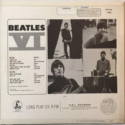 Lot 22 - THE BEATLES - BEATLES VI LP (ORIGINAL EXPORT COPY - CPCS 104)