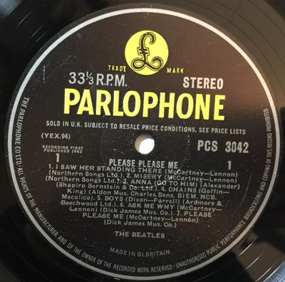 Lot 31 - THE BEATLES - PLEASE PLEASE ME/BEATLES FOR SALE LPs (UK STEREO PRESSINGS)