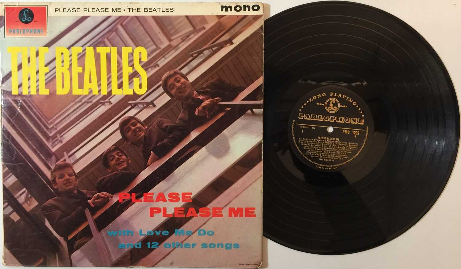 Lot 35 - THE BEATLES - PLEASE PLEASE ME (MONO 'BLACK AND GOLD' ORIGINAL PMC 1202 - SOLID EXAMPLE)