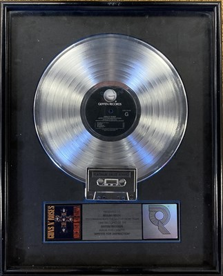 Lot 42 - GUNS N' ROSES APPETITE FOR DESTRUCTION RIAA PLATINUM DISC AWARD