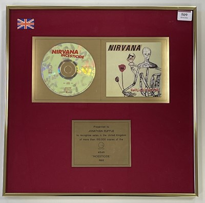 Lot 43 - NIRVANA INSECTICIDE GOLD DISC AWARD