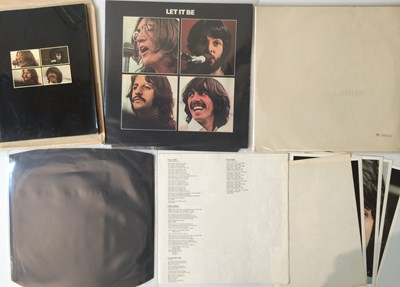 Lot 16-THE BEATLES - WHITE ALBUM/LET IT BE LPs (ORIGINAL UK PRESSINGS)